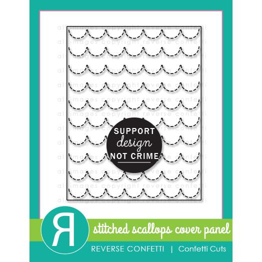 Stitched Scallops Cover Panel, Reverse Confetti Cuts -