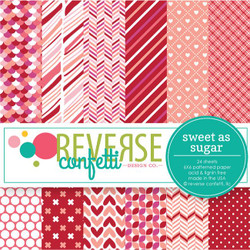 Sweet as Sugar, Reverse Confetti 6 X 6 Paper Pad -