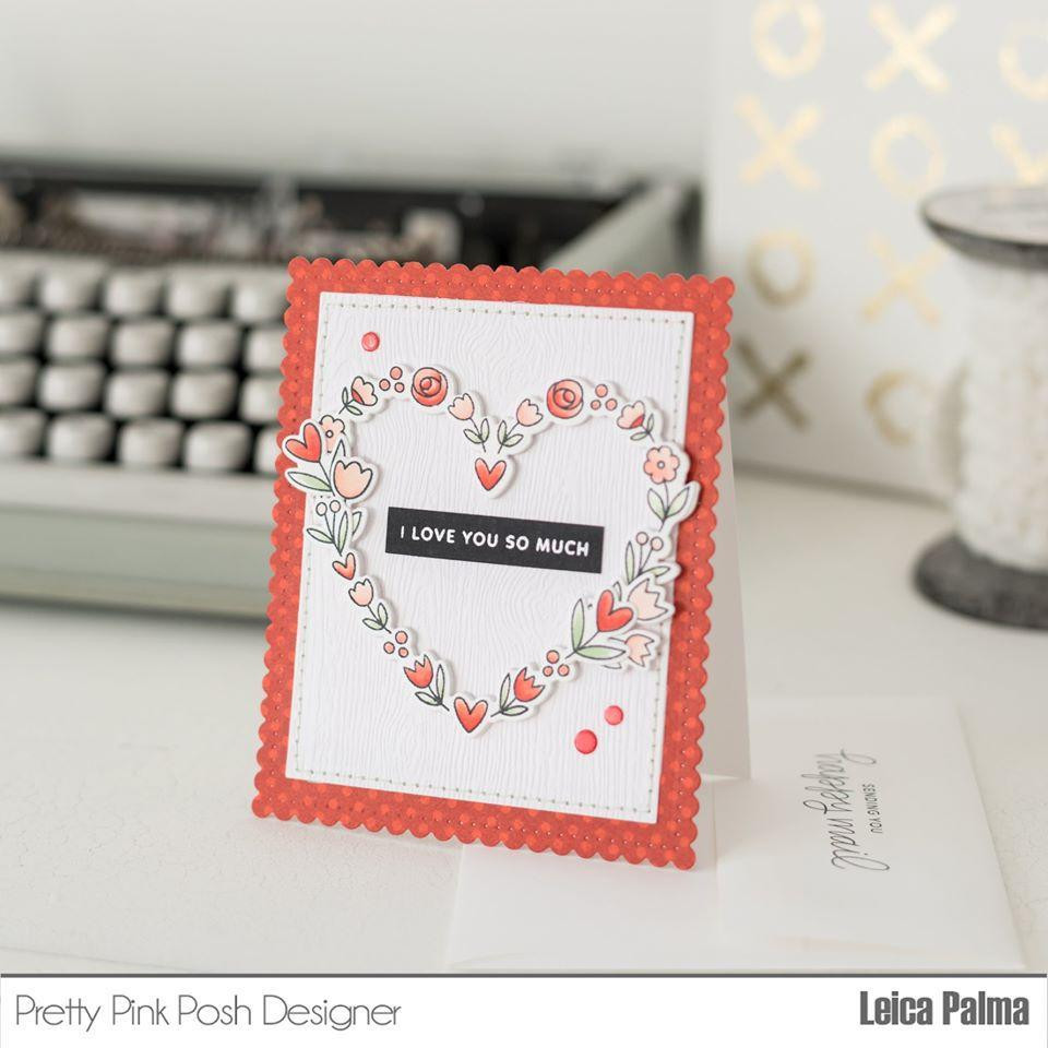 Large Floral Hearts, Pretty Pink Posh Dies -