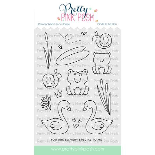 Pond Friends, Pretty Pink Posh Clear Stamps -
