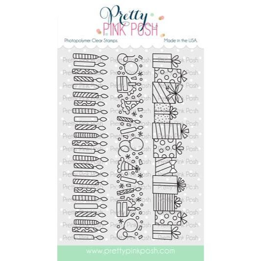 Birthday Borders, Pretty Pink Posh Clear Stamps -