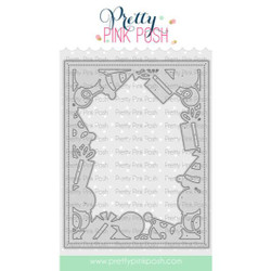 Birthday Frame, Pretty Pink Posh Dies -