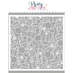 Birthday Background, Pretty Pink Posh Stencils -