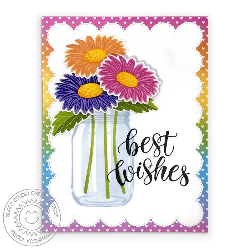 Cheerful Daisies, Sunny Studio Clear Stamps - 797648687822