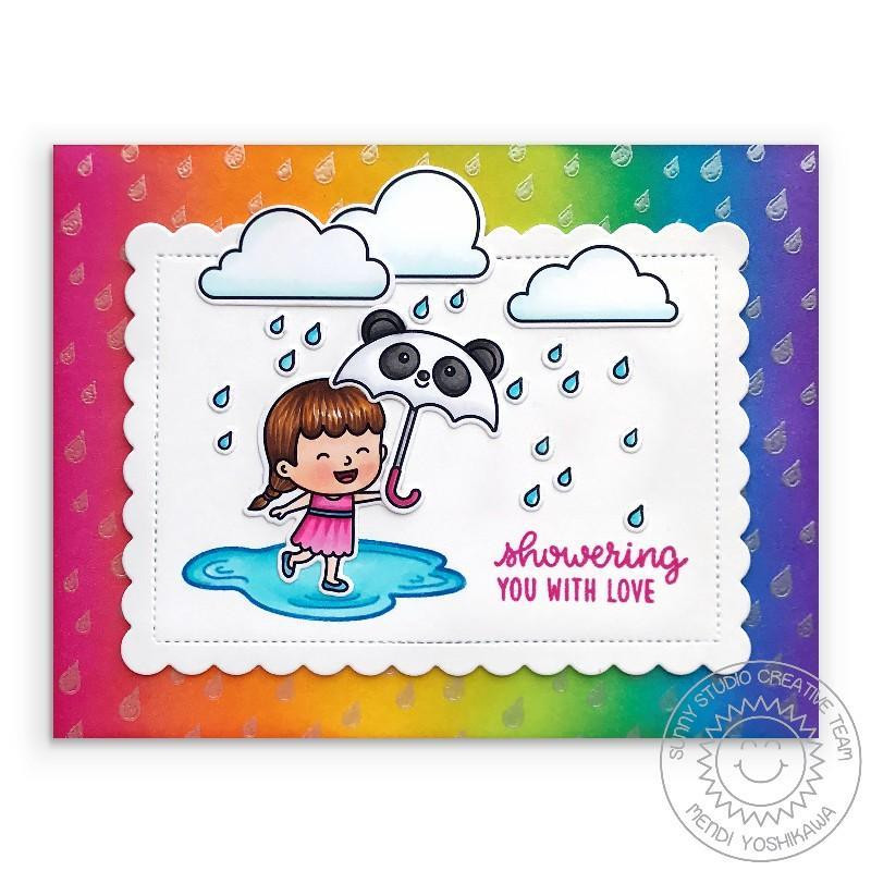 Spring Showers, Sunny Studio Clear Stamps - 797648687792