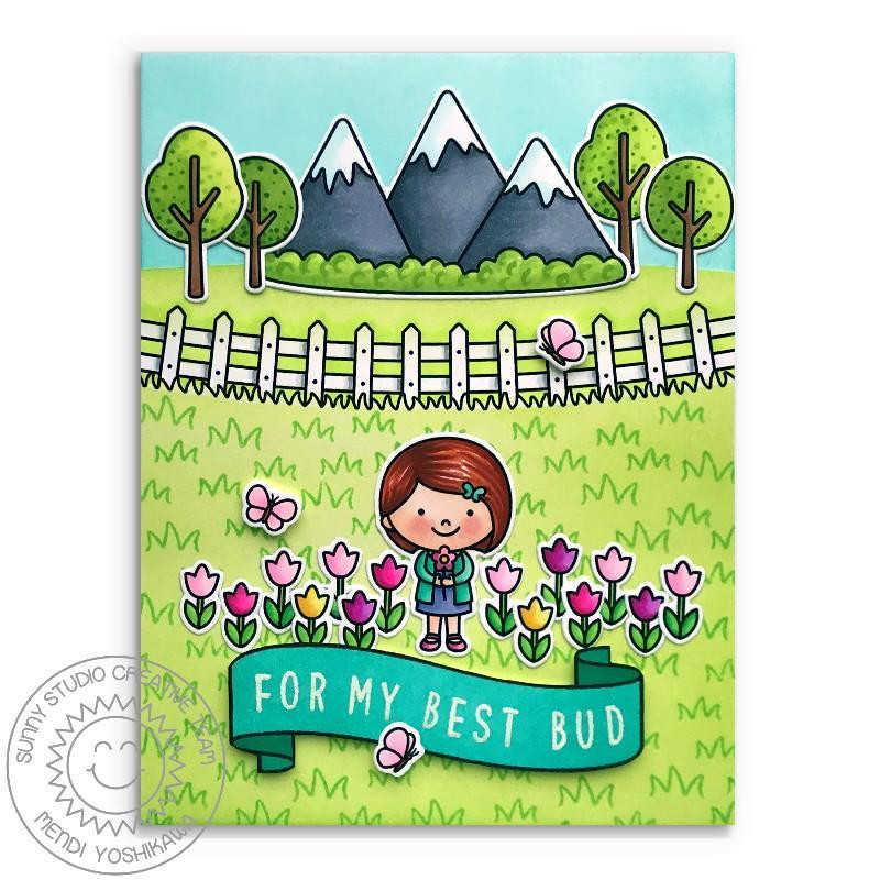 Spring Scenes, Sunny Studio Clear Stamps - 797648687815