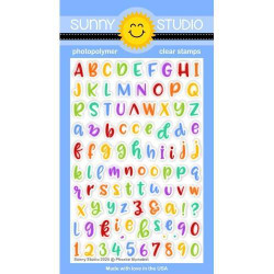 Phoebe Alphabet, Sunny Studio Clear Stamps - 797648687853