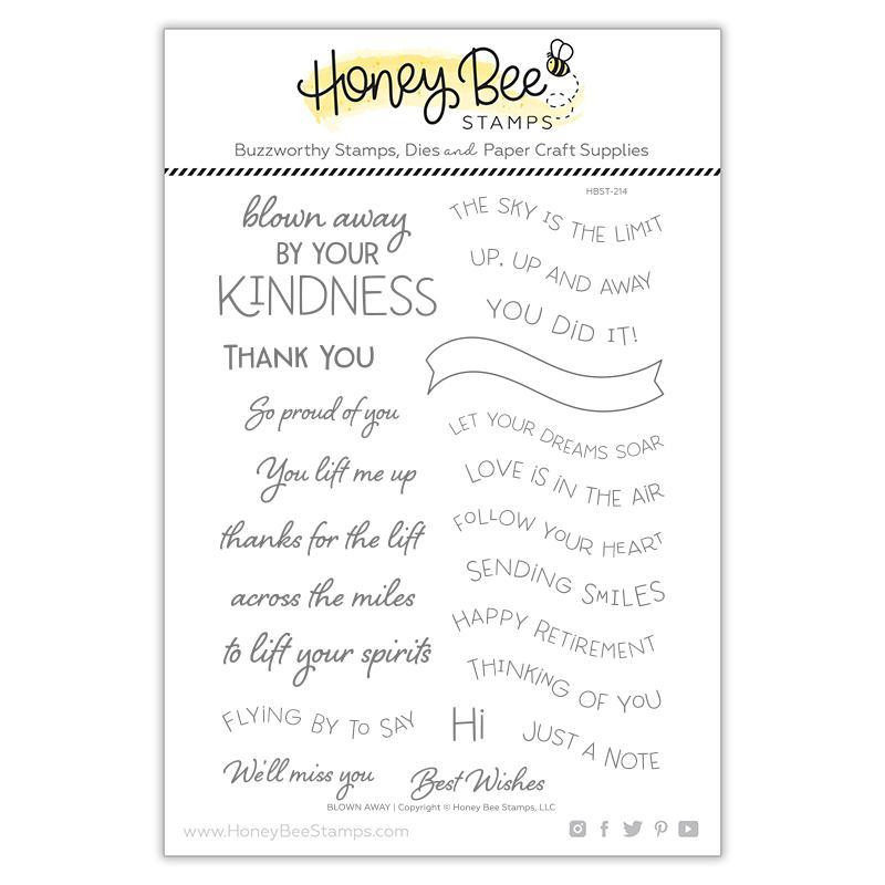 Blown Away, Honey Bee Clear Stamps - 652827604543