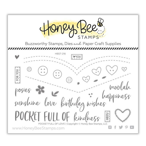 Pocket Full of Love, Honey Bee Clear Stamps - 652827604567