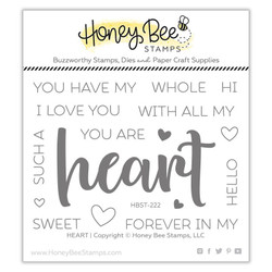 Heart, Honey Bee Clear Stamps - 652827604628