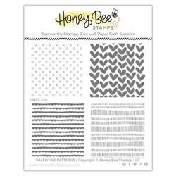Valentine Patterns, Honey Bee Clear Stamps - 652827604642