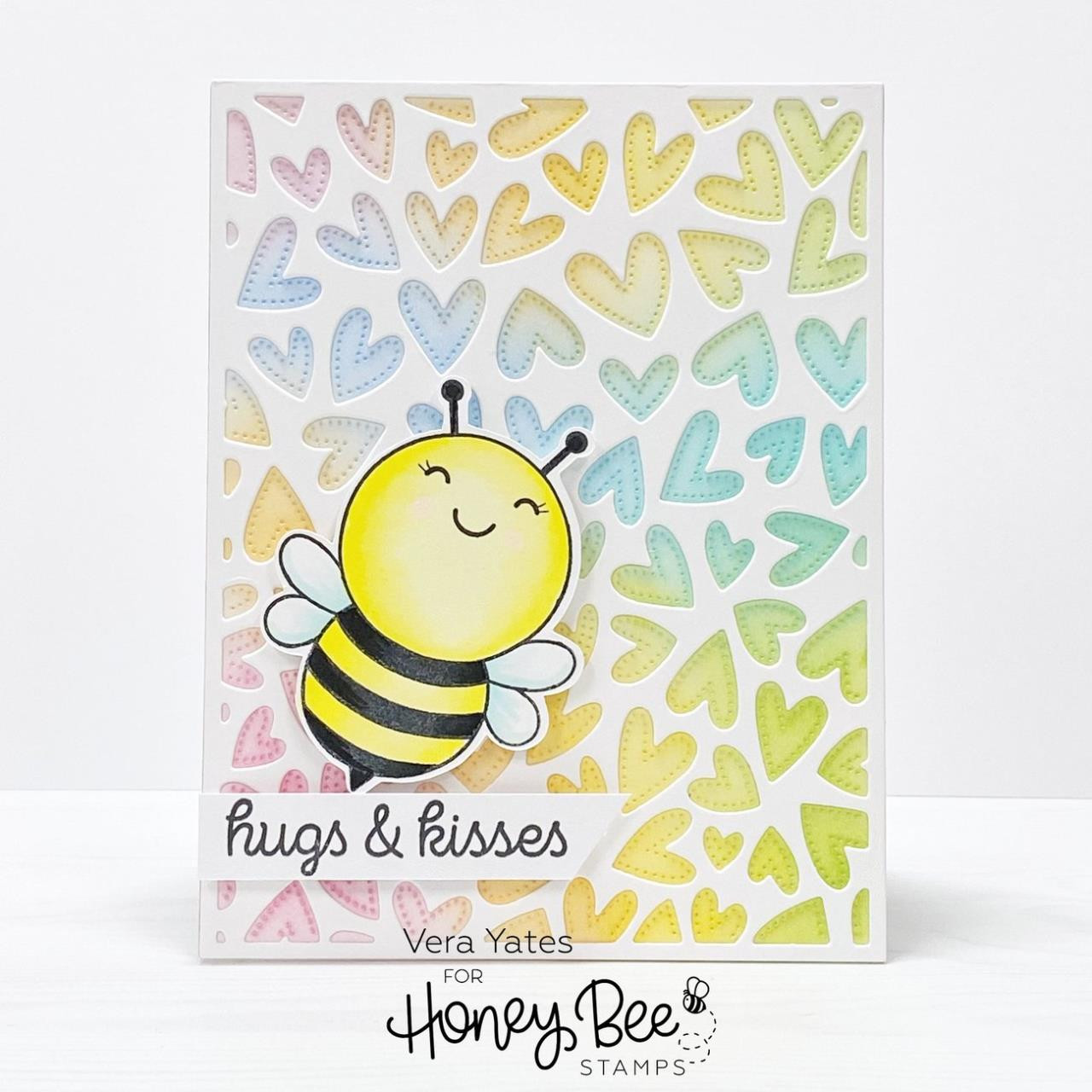 Fluttering Hearts Cover Plate, Honey Cuts Dies - 652827604376
