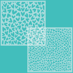 Fluttering Hearts Background Set of 2, Honey Bee Stencils - 652827604444