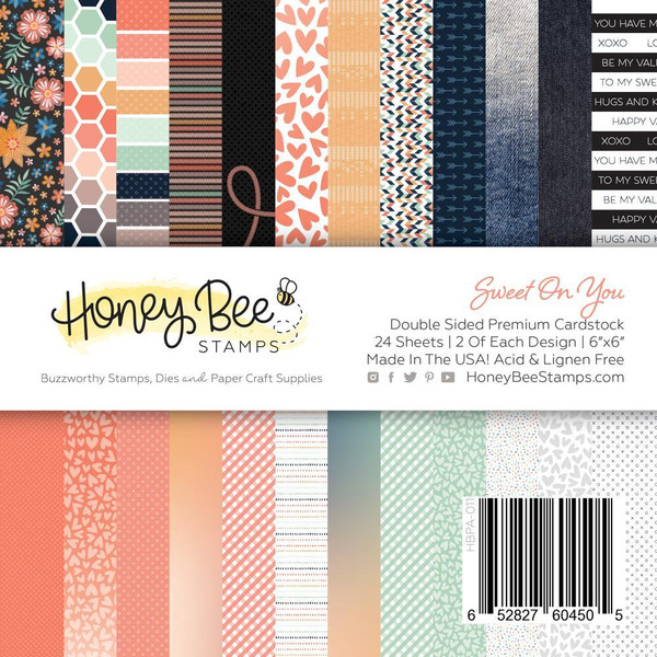 Sweet on You, Honey Bee 6 X 6 Paper Pad - 652827604505