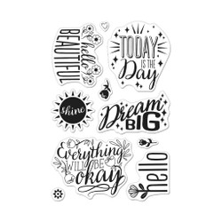 Affirmation Messages, Hero Arts Clear Stamps - 085700924818
