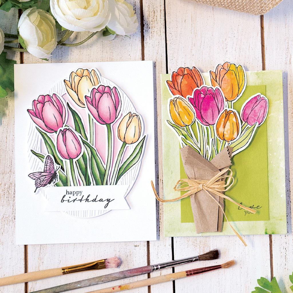 Hero Florals Tulips, Hero Arts Dies - 085700925860