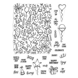 Wish Big Peek-A-Boo Parts, Hero Arts Clear Stamps - 085700924917