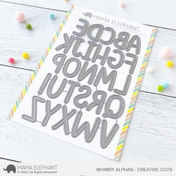 Whimsy Alphas, Mama Elephant Creative Cuts -