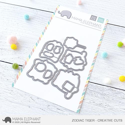 Zodiac Tiger, Mama Elephant Creative Cuts -