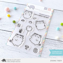 Zodiac Tiger, Mama Elephant Clear Stamps -