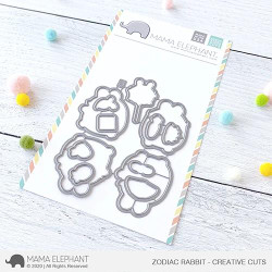 Zodiac Rabbit, Mama Elephant Creative Cuts -