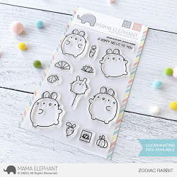 Zodiac Rabbit, Mama Elephant Clear Stamps -