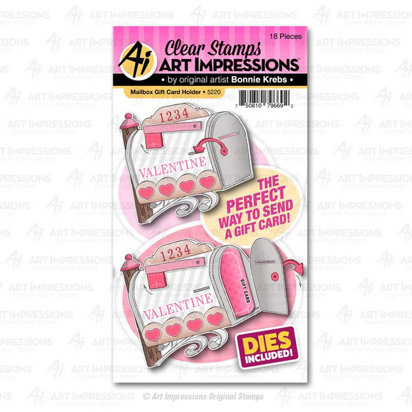 Mailbox Gift Card Holder, Art Impressions Clear Stamps - 750810796692