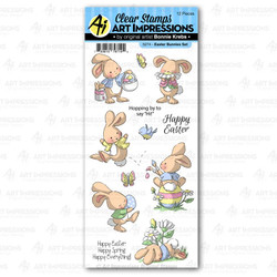 Easter Bunnies, Art Impressions Clear Stamps - 750810797194