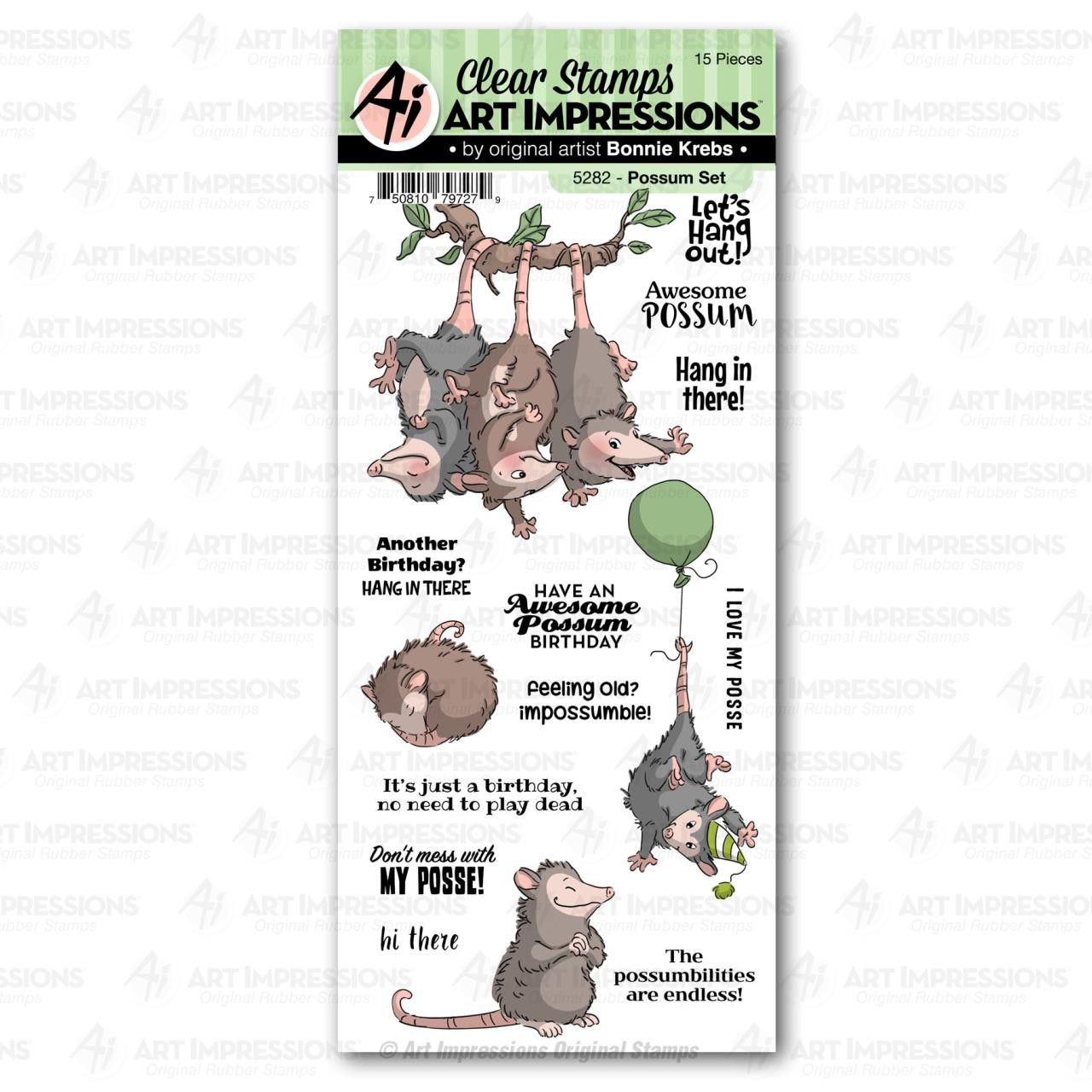 Possum, Art Impressions Clear Stamps - 750810797279