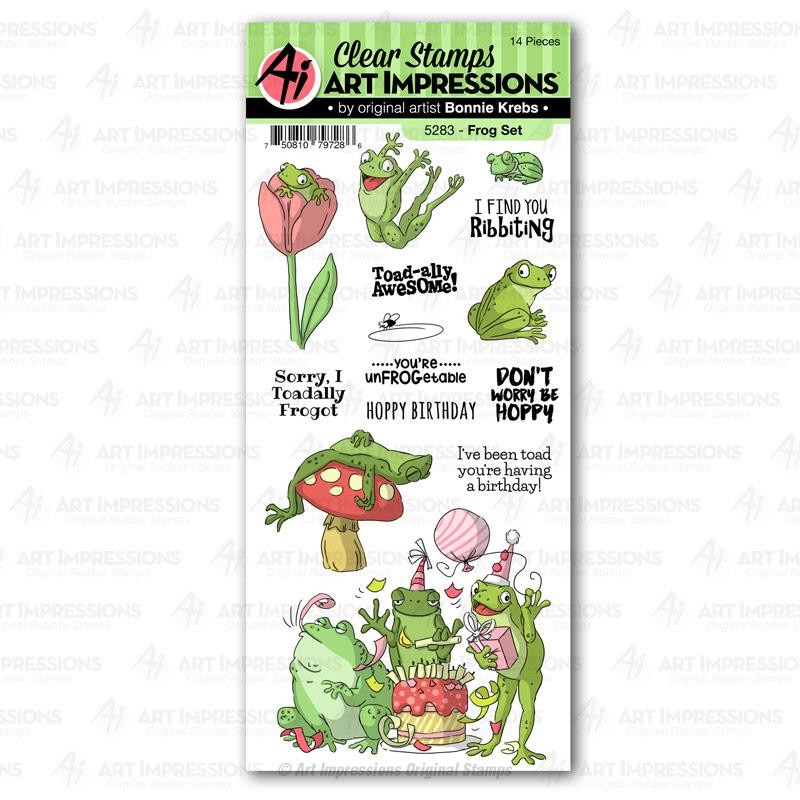 Frog, Art Impressions Clear Stamps - 750810797286