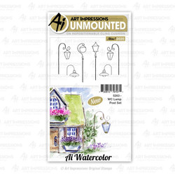 Watercolor Lamp Post, Art Impressions Cling Stamps - 750810797071