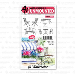 Watercolor Wrought Iron, Art Impressions Cling Stamps - 750810797095
