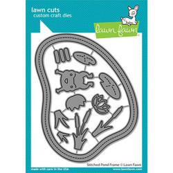 (PREORDER) Stitched Pond Frame, Lawn Cuts Dies - 035292675124
