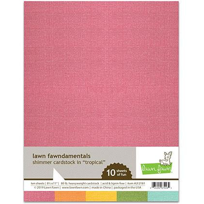 Shimmer Cardstock - Tropical, Lawn Fawn Cardstock - 035292674264
