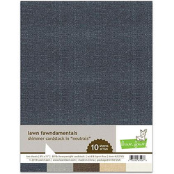 (PREORDER) Shimmer Cardstock - Neutrals, Lawn Fawn Cardstock - 035292674288