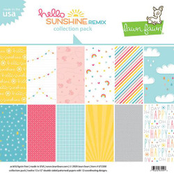 (PREORDER) Hello Sunshine Remix, Lawn Fawn Collection Pack - 035292674448