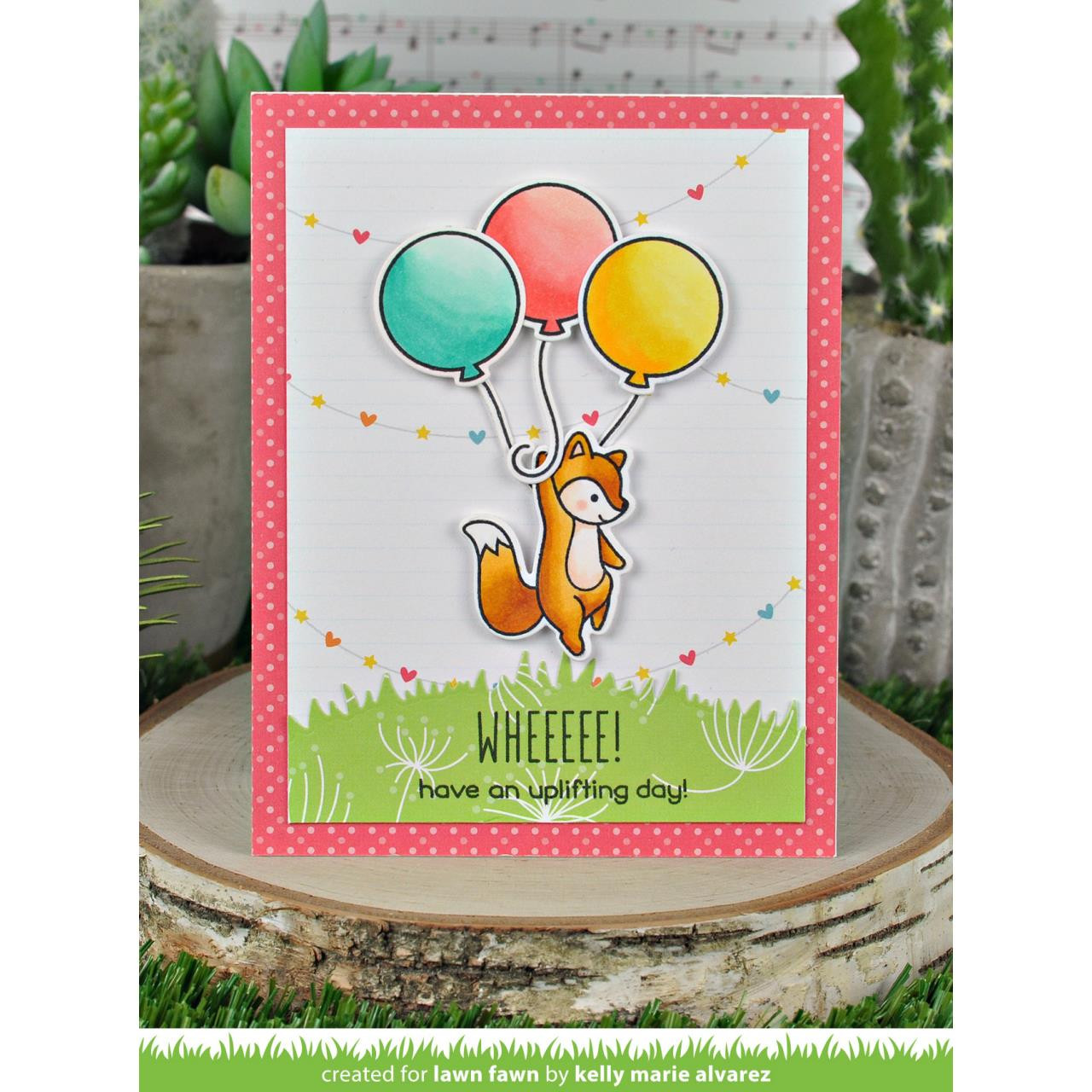 (PREORDER) Really High Five, Lawn Fawn Clear Stamps - 035292674554