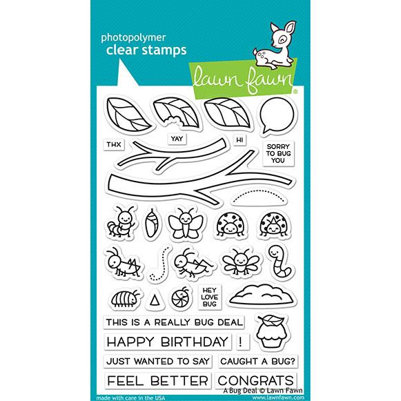 (PREORDER) A Bug Deal, Lawn Fawn Clear Stamps - 035292674615