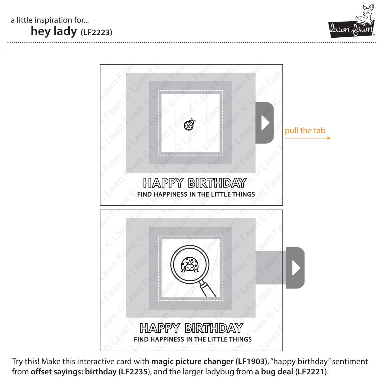 (PREORDER) Hey Lady, Lawn Fawn Clear Stamps - 035292674639