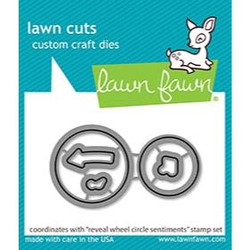 (PREORDER) Reveal Wheel Circle Sentiments, Lawn Cuts Dies - 035292674660