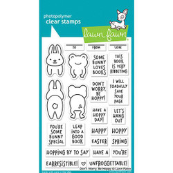 (PREORDER) Don't Worry, Be Hoppy, Lawn Fawn Clear Stamps - 035292674714