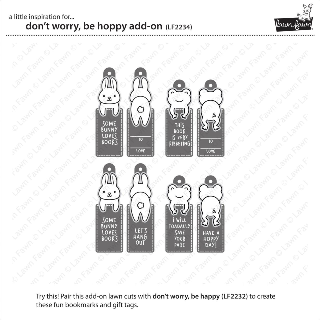 (PREORDER) Don't Worry, Be Hoppy Add-On, Lawn Cuts Dies - 035292674738