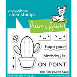 (PREORDER) Year Ten, Lawn Fawn Clear Stamps - 035292674752