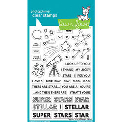 (PREORDER) Super Star, Lawn Fawn Clear Stamps - 035292674806