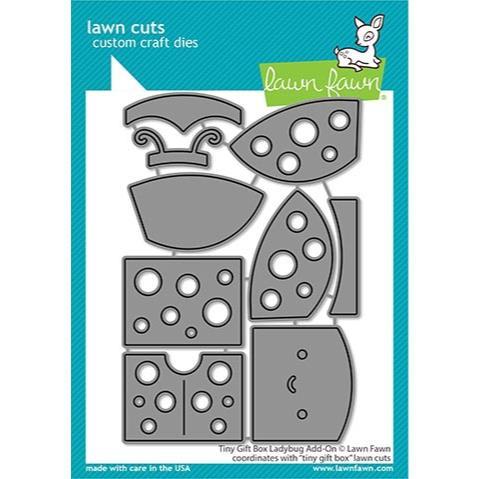 (PREORDER) Tiny Gift Box Lady Bug Add-On, Lawn Cuts Dies - 035292674950