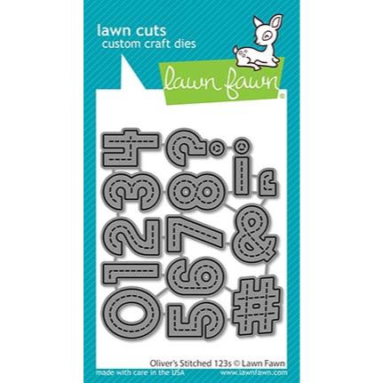 (PREORDER) Oliver's Stitched 123s, Lawn Cuts Dies - 035292675018