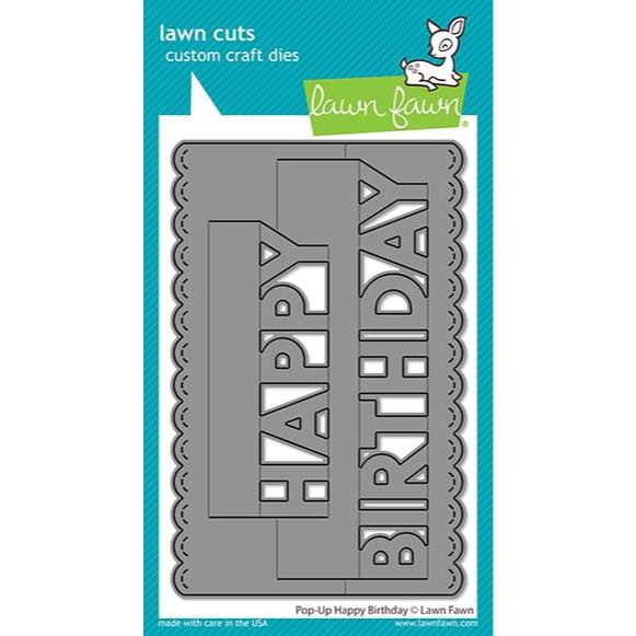 (PREORDER) Pop-Up Happy Birthday, Lawn Cuts Dies - 035292675032