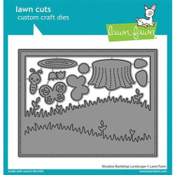 (PREORDER) Meadow Backdrop: Landscape, Lawn Cuts Dies - 035292675049
