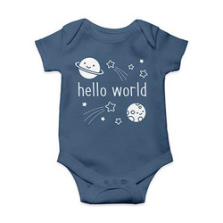 (PREORDER) Hello World Onesie (3 - 6 mo), Lawn Fawn - 035292675155