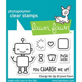 (PREORDER) Charge Me Up, Lawn Fawn Clear Stamps - 352926710724